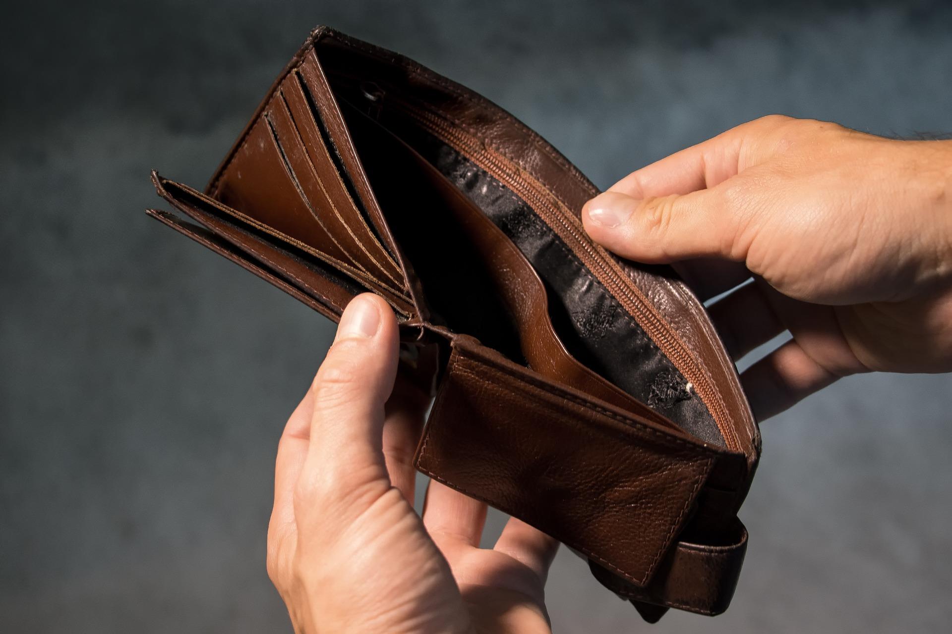 Prázdna peňaženka